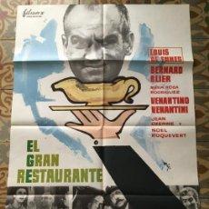 Cine: EL GRAN RESTAURANTE LOUIS DE FUNES POSTER CARTEL ORIGINAL ESTRENO. Lote 293774918