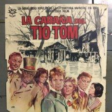 Cine: CDO N064 LA CABAÑA DEL TIO TOM JOHN KITZMILLER O. W. FISCHER POSTER ORIGINAL 70X100 ESTRENO. Lote 293812628