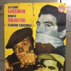 Cine: CDO N066 RUFUFU DA EL GOLPE VITTORIO GASSMAN POSTER ORIGINAL 70X100 ESTRENO. Lote 293814298