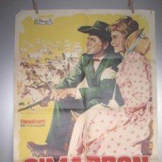 Cine: POSTER 100 X 70 CM. CIMARRON DIBUJANTE JANO AÑO 1961 ORIGINAL EL DE LA FOTO. Lote 293860538