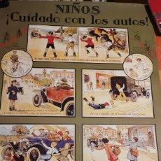 Cine: POSTER NIÑOS CUIDADO CON LOS AUTOS. Lote 294031413