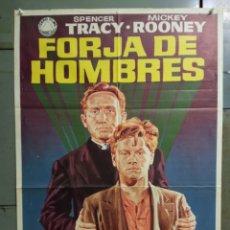 Cine: CDO N108 FORJA DE HOMBRES SPENCER TRACY MICKEY ROONEY JANO POSTER ORIGINAL 70X100 ESPAÑOL R-72. Lote 294384738