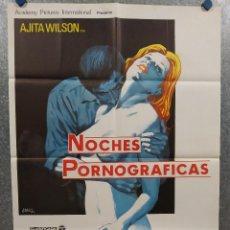 Cine: NOCHES PORNOGRAFICAS LAS NOCHES ERÓTICAS DE LOS MUERTOS VIVIENTES. LAURA GEMSER JOE D'AMATO POSTER O. Lote 294408978