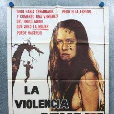 Cine: LA VIOLENCIA DEL SEXO. CAMILLE KEATON, ERON TABOR, RICHARD PACE. GORE AÑO 1979. POSTER ORIGINAL. Lote 294430118