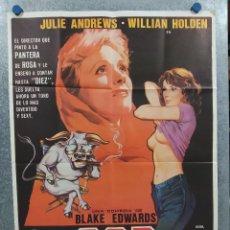 Cine: S.O.B. SOIS HONRADOS BANDIDOS. JULIE ANDREWS, WILLIAM HOLDEN, MARISA BERENS AÑO 1981 POSTER ORIGINAL. Lote 294430678