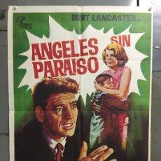 Cine: CDO N124 ANGELES SIN PARAISO JUDY GARLAND BURT LANCASTER CASSAVETTES POSTER ORIGINAL 70X100 ESTRENO. Lote 294457208