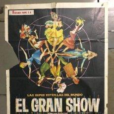 Cine: CDO N125 EL GRAN SHOW ANTONIO MINA VINCE TAYLOR POSTER ORIGINAL 70X100 ESTRENO. Lote 294457753