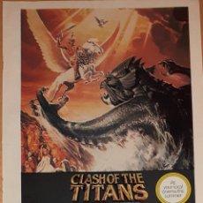 Cine: ANUNCIO PELÍCULA 'FURIA DE TITANES' 1981. Lote 294494743