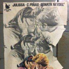 Cine: CDO N133 LOS ADOLESCENTES JULISSA ABEL SALAZAR JANO POSTER ORIGINAL 70X100 ESTRENO. Lote 294568808