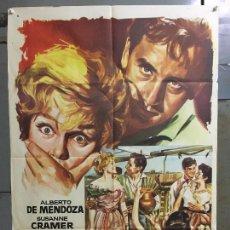 Cine: CDO N157 LA GRAN AVENTURA ALBERTO DE MENDOZA SUSANNE CRAMER POSTER ORIGINAL ESTRENO 70X100. Lote 294864538