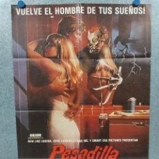 Cine: PESADILLA EN ELM STREET 2 LA VENGANZA DE FREDDY. ROBERT ENGLUND. POSTER ORIGINAL. Lote 294949893