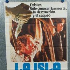 Cine: LA ISLA. MICHAEL CAINE, DAVID WARNER AÑO 1980. POSTER ORIGINAL. Lote 294950958