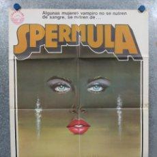 Cine: SPERMULA. DAYLE HADDON, UDO KIER, FRANÇOIS DUNOYER. AÑO 1978. POSTER ORIGINAL. CLASIFICADA S. Lote 294952248