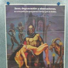 Cine: LOS RITOS SEXUALES DEL DIABLO HELGA LINÉ, VANESSA HIDALGO JOSÉ RAMÓN LARRAZ AÑO 1982 POSTER ORIGINAL. Lote 294956833