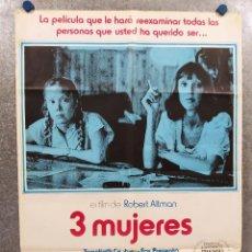 Cine: 3 MUJERES. SISSY SPACEK, SHELLEY DUVALL, JANICE RULE. AÑO 1977 POSTER ORIGINAL. Lote 294957213