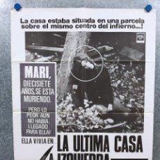 Cine: LA ÚLTIMA CASA A LA IZQUIERDA. SANDRA PEABODY, LUCY GRANTHAM, WES CRAVEN, AÑO 1979 POSTER ORIGINAL. Lote 294957513