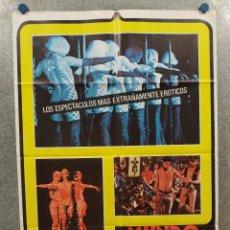 Cine: MUNDO DE NOCHE HOY. AÑO 1978, GIANNI PROIA. AÑO 1979 POSTER ORIGINAL. Lote 294957713