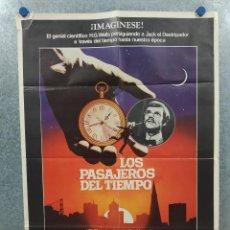 Cine: LOS PASAJEROS DEL TIEMPO. MALCOLM MCDOWELL, DAVID WARNER, MARY STEENBURGEN. AÑO 1979 POSTER ORIGINAL. Lote 294957943