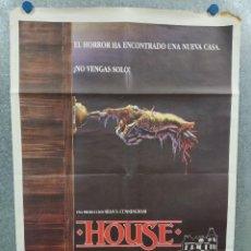 Cine: HOUSE, UNA CASA ALUCINANTE. WILLIAM KATT, GEORGE WENDT, RICHARD MOLL AÑO 1985 POSTER ORIGINAL. Lote 294958088