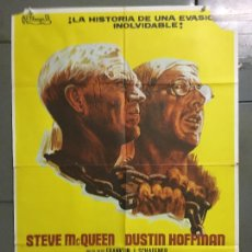 Cine: CDO N176 PAPILLON STEVE MCQUEEN DUSTIN HOFFMAN POSTER ORIGINAL 70X100 ESTRENO. Lote 295048073