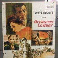Cine: CDO N178 OPERACION COWBOY ROBERT TAYLOR WALT DISNEY POSTER ORIGINAL 70X100 ESTRENO. Lote 295048913