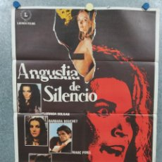 Cine: ANGUSTIA DE SILENCIO. BARBARA BOUCHET, TOMAS MILIAN, LUCIO FULCI. GIALLO. AÑO 1978. POSTER ORIGINAL. Lote 295281908