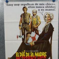 Cine: EL DÍA DE LA MADRE. NANCY HENDRICKSON, DEBORAH LUC AÑO 1981. POSTER ORIGINAL. Lote 295282733