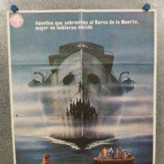 Cine: EL BARCO DE LA MUERTE. GEORGE KENNEDY, NICK MANCUSO, SAUL RUBINEK AÑO 1981. POSTER ORIGINAL. Lote 295282988