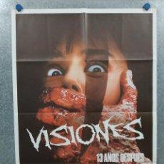 Cine: VISIONES. JENNIFER RUBIN, BRUCE ABBOTT, RICHARD LYNCH. AÑO 1988. POSTER ORIGINAL. Lote 295287693