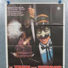 Cine: EL TREN DEL TERROR. BEN JOHNSON, JAMIE LEE CURTIS, HART BOCHNER AÑO 1980. POSTER ORIGINAL. Lote 295288563