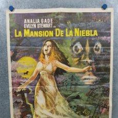 Cine: LA MANSIÓN DE LA NIEBLA. IDA GALLI, ANALÍA GADÉ. AÑO 1972. POSTER ORIGINAL. Lote 295294703