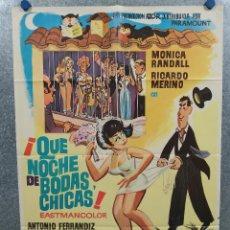 Cine: ¡QUÉ NOCHE DE BODAS, CHICAS! MÓNICA RANDALL, ANTONIO FERRANDIS. AÑO 1972 POSTER ORIGINAL.. Lote 295297858