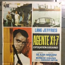 Cine: CDO N185 AGENTE X1-7 OPERACION OCEANO LANG JEFFRIES ESPIAS POSTER ORIGINAL 70X100 ESTRENO. Lote 295298188