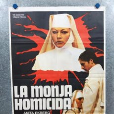 Cine: LA MONJA HOMICIDA. ANITA EKBERG, PAOLA MORRA. POSTER ORIGINAL. CLASIFICADA S. Lote 295302253