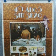 Cine: 40 AÑOS SIN SEXO. MARTA ANGELAT, ANTONIO CEINOS, CARLOS LUCENA. AÑO 1977. POSTER ORIGINAL.. Lote 295307788