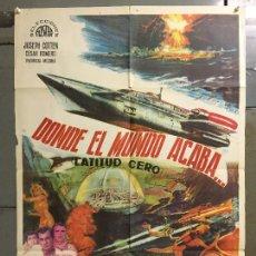 Cine: CDO N208 DONDE EL MUNDO ACABA ISHIRO HONDA TOHO SCI-FI POSTER ORIGINAL 70X100 DEL ESTRENO. Lote 295341803