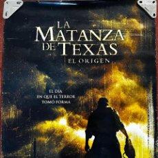 Cine: CARTEL DE CINE ORIGINAL LA MATANZA DE TEXAS, EL ORIGEN. NUEVO. MEDIDAS, 70 POR 100 CM.. Lote 295484193
