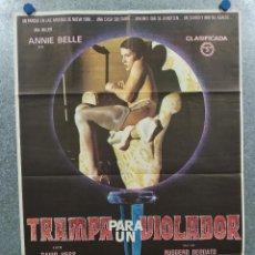 Cine: TRAMPA PARA UN VIOLADOR RUGGERO DEODATO, DAVID ALEXANDER HESS, ANNIE BELLE AÑO 1981 POSTER ORIGINAL.. Lote 295486643