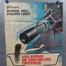 Cine: LAS FOTOS DE UNA MUJER DECENTE. MARISA MELL, PHILIPPE LEROY. AÑO 1971. POSTER ORIGINAL. Lote 295488383