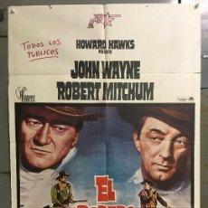 Cine: CDO N231 EL DORADO JOHN WAYNE ROBERT MITCHUM HOWARD HAWKS POSTER ORIGINAL 70X100 ESPAÑOL R-76. Lote 295499308
