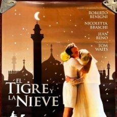 Cine: CARTEL DE CINE ORIGINAL. EL TIGRE Y LA NIEVE, NUEVO, MEDIDAS: 70 POR 100 CM.. Lote 295509483