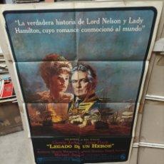 Cine: LEGADO DE UN HEROE GLENDA JACKSON POSTER ORIGINAL 70X100 M418. Lote 295510283