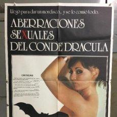 Cine: CDO N242 ABERRACIONES SEXUALES DEL CONDE DRACULA VANESSA DEL RIO POSTER ORIGINAL ESTRENO 70X100. Lote 295514778