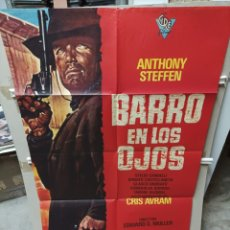 Cine: BARRO EN LOS OJOS ANTHONY STEFFEN SPAGHETTI POSTER ORIGINAL 70X100 M429. Lote 295564333