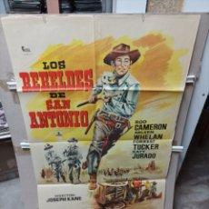 Cine: LOS REBELDES DE SAN ANTONIO POSTER ORIGINAL 70X100 M430. Lote 295564408