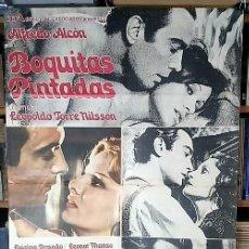 Cine: BOQUITAS PINTADAS 1974 MANUEL PUIG - PELÍCULA - AFICHE CINE ORIGINAL - POSTAR CARTEL. Lote 295614318