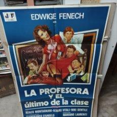 Cine: LA PROFESORA Y EL ÚLTIMO DE LA CLASE EDWIGE FENECH PÓSTER ORIGINAL 70X100 M438. Lote 295617363
