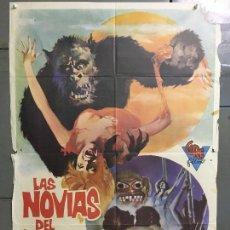 Cine: CDO N253 LAS NOVIAS DEL MONSTRUO EDDIE ROMERO MARTI RIPOLL POSTER ORIGINAL 70X100 ESTRENO. Lote 295716463