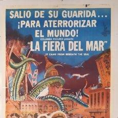 "Cine: ""LA FIERA DEL MAR"" (IT CAME FROM BENEATH THE SEA) - PÓSTER DE CINE ORIGINAL 1955. Lote 295826948"