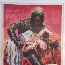 """Cine: """"EL REGRESO DEL MONSTRUO"""" (REVENGE OF CREATURE) - PÓSTER DE CINE ORIGINAL 1955. Lote 295828593"""